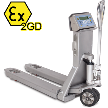 "TPWI ""EX"" 2GD Stainless Steel ATEX Pallet Truck Scale"