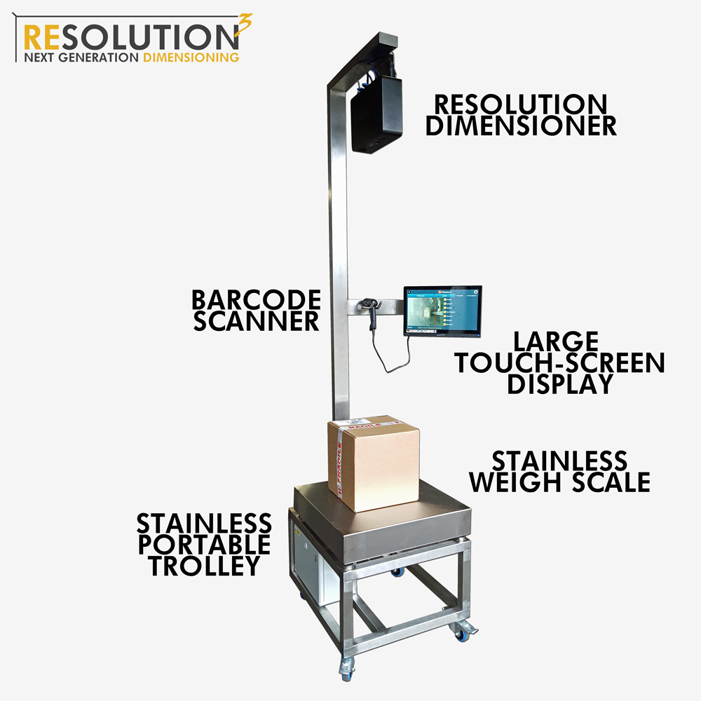 Resolution 3 Parcel Dimensioning Weigh Station