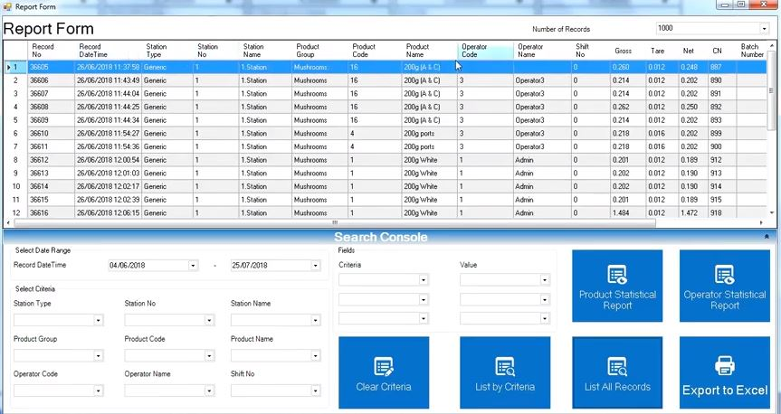 Negative Checkweigher Takeaway Scales Software large image